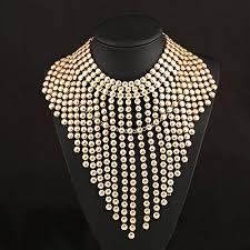 luxury necklace images New arrive luxury gold tassels fringe drop vintage bib statement jpg