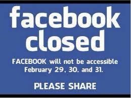 facebook closed feb 29 30 31