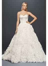 zac posen wedding dresses truly zac posen ruffled organza wedding dress david s bridal