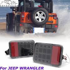 led bumper backup lights 2 pcs for 07 17 jeep wrangler jk led tail rear back bumper light
