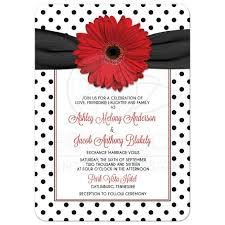 polka dot invitations polka dot wedding invitation retro black white