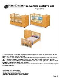 Convertible Crib Plans Convertible Captain S Crib Changing Drasser Plans Baby