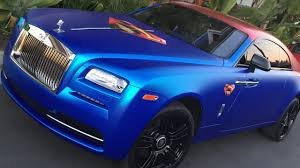 wrapped rolls royce yotta life rolls royce superman carwrap hollywood van