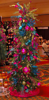 real trees interior show decorated