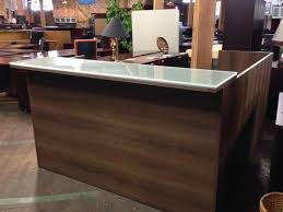 Granite Reception Desk Cherryman Reception Desk With Transaction Top Nashville Office