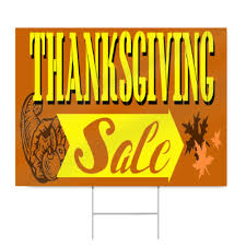 thanksgiving sale sign signstoyou