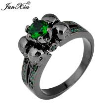 aliexpress buy junxin new arrival black aliexpress buy junxin fashion skull green ring black