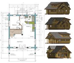 free plan and elevation drawing western model house