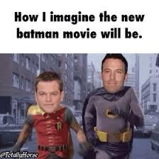 Ben Affleck Batman Meme - funny gif new batman movie ben affleck matt damon gif