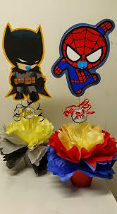 batman centerpieces s creations baby shower theme centerpieces