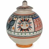 Mexican Pottery Vases Tonala Pottery Jimon Signed Handpainted Mexican Pottery