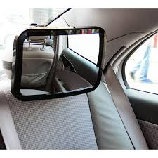 baby car mirror with light car styling adjustable back seat mirror rear view headrest mount