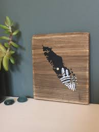 Home Decor Vancouver by Sitka Mandala Island In Black Mini Reclaimed Wood Wall Art