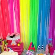 tissue streamers image detail for decor crepe paper streamer rainbow party