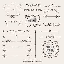calligraphic borders collection vector free
