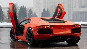 Lamborghini Aventador Open Door - orange lamborghini aventador in the rain hd desktop wallpaper