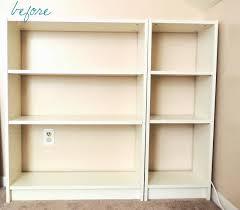 mid century ikea hack billy bookcase face lift ikea hackers