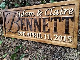 wood sign wall personalized family name sign personalized wedding