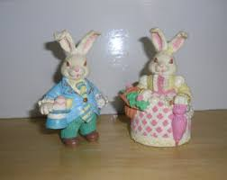 antique easter decorations vintage easter bunny etsy