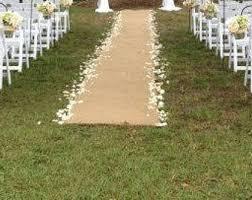 burlap wedding aisle runner burlap aisle runner etsy