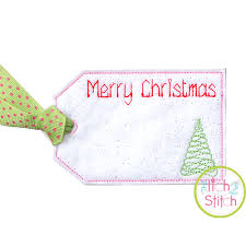ith christmas gift card holder and tag embroidery design