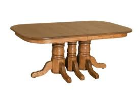 Amish Triple Pedestal Dining Table - Amish dining room table