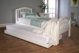 White Wood Single Bed Frame Virginia Bed Frame Guest Set White