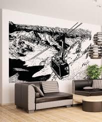 vinyl wall decal sticker mountain lift scenery 5222