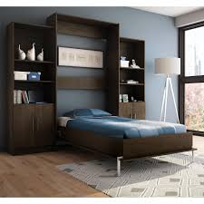 Wall Unit Bedroom Set With Storage Furniture Black Wooden Wall Bed With Display Cabinet Added White