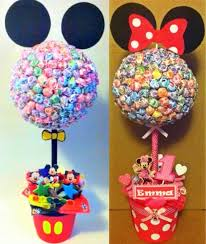 Mickey Mouse Topiary Set Of 2 Mickey U0026 Minnie Mouse Inspired Lollipop Tree Custom