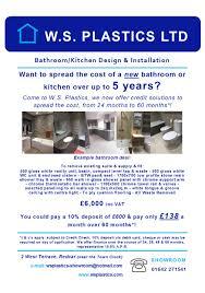 ws plastics bathroom u0026 kitchen design u0026 installation redcar
