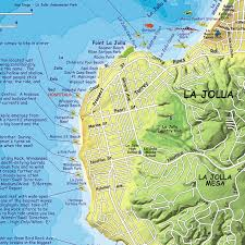 la jolla map san diego surfing map franko s fabulous maps of favorite places