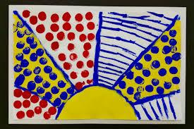 paintbrush rocket kindergarten u2013 lichtenstein u0027s in primary colors