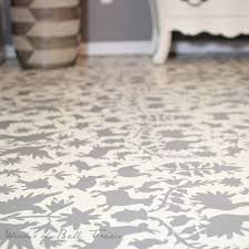 great tutorial for otomi stenciled painted concrete floor with annie sloan chalk paint