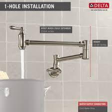 What Is A Pot Filler Faucet 1177lf Ss Traditional Wall Mount Pot Filler