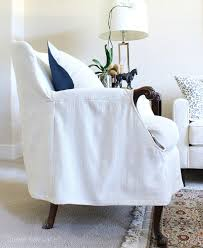 Slipcovers From Drop Cloths Armchair Slipcover U2013 Thistle Key Lane