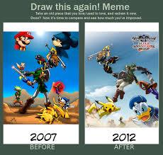 Kingdom Hearts Memes - meme kingdom hearts vs smash bros by mauroz on deviantart
