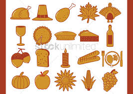 thanksgiving icons pictures thanksgiving icons vector image 1511209 stockunlimited