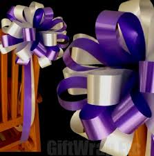 wedding bows 10 purple silver wedding bows pew chair table church party decorations