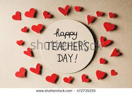 happy teachers day message handmade small stock photo 472735255