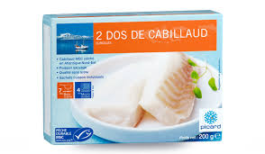 comment cuisiner dos de cabillaud 2 dos de cabillaud msc surgelés les poissons crustacés picard