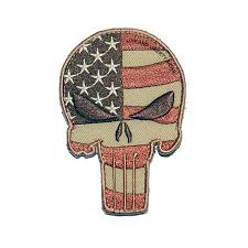 American Flag Morale Patch Subdued Us Flag Punisher Skull Morale Patch Life And Liberty Gear