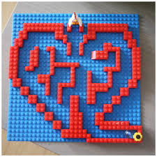 free printable lego maze heart lego marble maze building challenge for kids