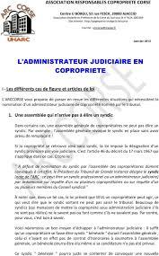 chambre syndicale des syndics de copropriété l administrateur judiciaire en copropriete pdf