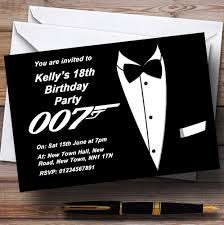personalised halloween party invitations bond james bond personalised party invitations the card zoo