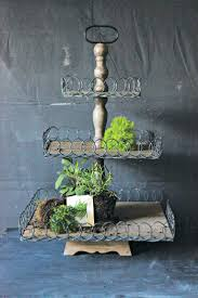 Wooden Home Decor Items Fantastic Wood And Metal 3 Tiered Pedestal Vintage American Home