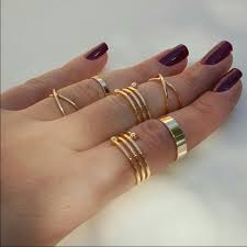 midi ring set hana gold plated midi rings set last set from s closet on
