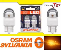 tail light bulb finder sylvania zevo led light bulb 7443 amber orange turn signal side
