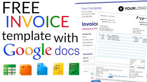Google Spreadsheet Free Free Invoice Template How To Create An Invoice Using Google Docs