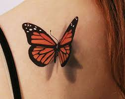 3d butterfly temporary looks like if just landed on you